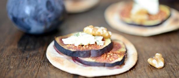 Tartes fines figues – Roquefort (feine Feigen-Roquefort Tartes)